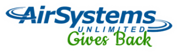 Check out our local engagement tool, AirSystems Unlimited gives back!